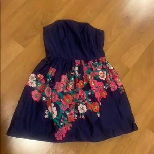 Lilly Pulitzer navy floral dress
